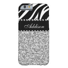 Black Glitter Zebra Rhinestone Girly Case Barely There iPhone 6 Case The perfect way to your phone! *Note: Rhinestones/Glitter is graphic image. #animal #girly #cute #chic #glitter #rhinestone #bling #girls #zebra #fashion #faux #name #monogram #vintage #glam #girl #case #teens #young #adult #gift #phone #case #samsung #galaxy #hot #pink...