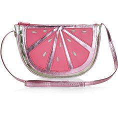 Accessorize Watermelon Across Body Bag ($12) ❤ liked on Polyvore featuring bags, handbags, shoulder bags, accessorize purses, pink crossbody, crossbody shoulder bags, pink handbags and pink crossbody purse