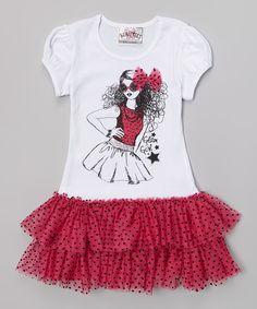 Love this Hot Pink Rockstar Tutu Dress by Beautees on #zulily! #zulilyfinds