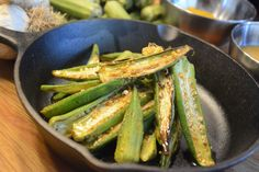 Jenn Robbins' Skillet Roasted Okra with Grainy Mustard and Curry Vinaigrette