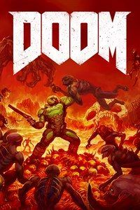 "Most video game box art sucks. The new DOOM's cover, however, is especially bad. Thankfully, Bethesda seems to have taken note of this, and is offering fans a ""vote"" on a reversible second cover. Doom 2016, Doom Game, Doom 4, Halo, Retro Poster, Game Concept Art, Wow Art, Backgrounds, Video Game"