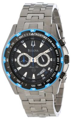 Bulova Men's 98B120 Marine Star Black Dial Bracelet Watch >>> Be sure to check out this awesome product.