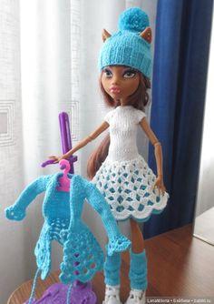 """А чем я не Снегурочка?"", одежда для кукол Monster High / Одежда для кукол / Шопик. Продать купить куклу / Бэйбики. Куклы фото. Одежда для кукол"