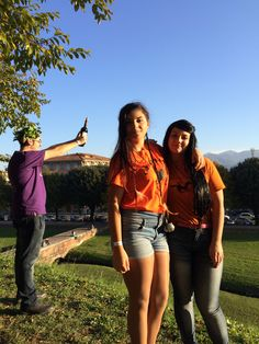 """""""Percy Jackson Heroes of Olympus"""" cosplay. Piper Mc Lean, Silena Bauregard and a Son of Bacchus. 30/10/15"""