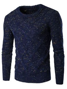Crew Neck Colorful Kink Design Long Sleeve Sweater