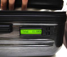 This Luggage Has a Built In Scale That Weighs Itself