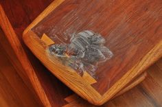 Removing Stains from Teak and Walnut Furniture | it takes many applications but does work