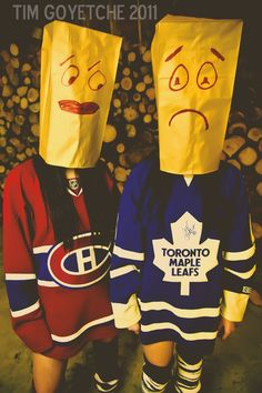 Habs vs Leafs bags @Kaitlyn Watson