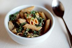Whole wheat pasta with chard and sausage