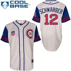 dfe3662ac Chicago Cubs Men s 1942 Kyle Schwarber by GoCubsGoTeamShop on Etsy Nfl  Jerseys