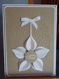 by AUBLIN Florence - Stampin' Up! demo, using the ornament keepsakes stamps and framelits. LOVE THIS!!!