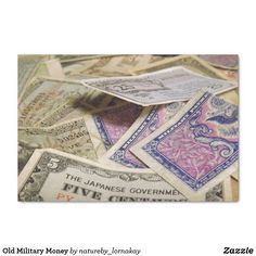 Old Military Money Tissue Paper