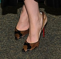 """Lily Collins Wears a Camo Version of the Coveted """"So Kate"""" Louboutins"""