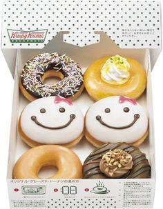 Dunkin Donuts Menu, Candy Birthday Cakes, Christmas Donuts, Donut Decorations, Delicious Donuts, Food Crush, Donut Glaze, Krispy Kreme, Menu Design