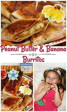 Back to School Peanut Butter and Banana Burritos #ad