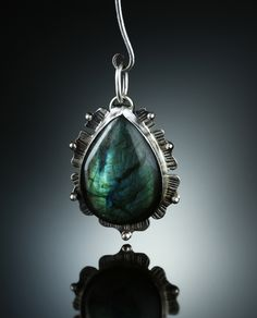 Labradorite Centerpiece. Fabricated Sterling Silver. www.amybuettner.com https://www.facebook.com/pages/Metalsmiths-Amy-Buettner-Tucker-Glasow/101876779907812?ref=hl https://www.etsy.com/people/amybuettner http://instagram.com/amybuettnertuckerglasow