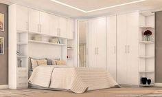 Resultado de imagem para quartos de casal planejados para apartamentos pequenos