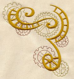 Clockwork Magic - Cogs Corner   Urban Threads: Unique and Awesome Embroidery Designs
