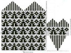 "Вязание. Жаккард - ""Зимняя радуга""   VK Knitted Mittens Pattern, Knitted Gloves, Knitting Socks, Baby Knitting, Wrist Warmers, Hand Warmers, Knitting Charts, Knitting Patterns, Socks"