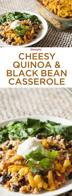 This Cheesy Quinoa & Black Bean Casserole will be a family favorite. It's so good!