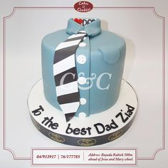 A father is someone you look up to; no matter how tall you grow! #cakesandcookieslb #cake #cakes #birthdaycake #delicious #chocolate #dessert #sweet #birthday #sugarart #Lebanon