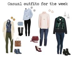 Four days of Casual by texmom661 on Polyvore featuring LOFT, Topshop, Uniqlo, River Island, H&M, Dorothy Perkins, NYDJ, Liverpool Jeans Co., Banana Republic and Aquatalia by Marvin K.