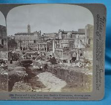 Italian Stereoview Photo Rome Forum & Capitol From Nr Basilica Constantine Rome, City Photo, Romans, Rome Italy