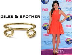 Who: Lucy Hale wearing a Giles & Brother Cortina cuff Shop: Shopbop.com $185 / £122.28 Saks.com $95 / £64.10 Where: 2012 Teen Choice Awards, LA Credit: Get