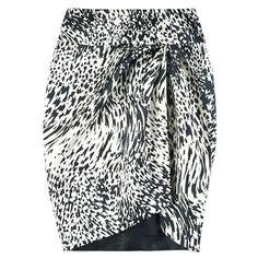 Duchesse Astro Asymmetric Skirt (€1.815) ❤ liked on Polyvore featuring skirts, modaoperandi, asymmetrical skirts, straight skirt, giambattista valli and giambattista valli skirt