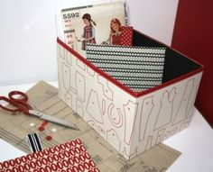No-sew fabric covered boxes tutorial by magdalena