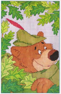 Point de croix *♥*Cross stitch Robin Hood 2 of 2 Disney Cross Stitch Patterns, Counted Cross Stitch Patterns, Cross Stitch Charts, Cross Stitch Designs, Cross Stitch Embroidery, Just Cross Stitch, Cross Stitch Baby, 2 Baby, Stitch Character