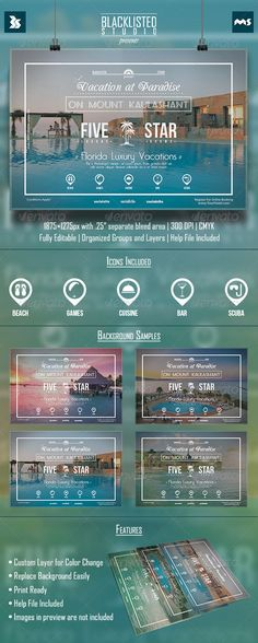 Vacation Flyer — Photoshop PSD #party #music • Available here → https://graphicriver.net/item/vacation-flyer/8548933?ref=pxcr