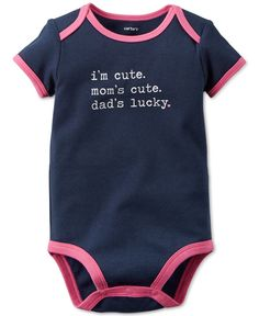 Carter's Baby Girls' Short-Sleeve Cute Bodysuit