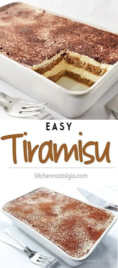 Easy Tiramisu Recipe - easy no-bake tiramisu recipe - You can find Italian desserts and more on our website.Easy Tiramisu Recipe - easy no-bake tiramisu recipe - No Bake Tiramisu Recipe, Tiramisu Recipe Without Eggs, Tiramisu Dessert, Tiramisu Recipe Without Ladyfingers, Simple Tiramisu Recipe, Tiramisu Cookies, Tiramisu Cheesecake, Tiramisu Recipe With Cream Cheese, Tiramisu Recipe With Alcohol