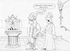 Dieser alte Fuchs! Karikatur, Line-Art, Comic     #caricature #lineart http://marc-oliver-teuber.de #comics #books #Karikaturen #Cartoons #Kinderbücher