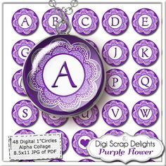Digital Collage Sheet Alphabet One Inch by DigiScrapDelights,