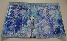 Artwork created by Anne May using rubber stamps designed by Daniel Torrente for Stampotique Originals