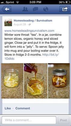 Organic sore throat relief