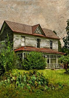 Old Southern Farm House...lonely..no family, no friends, no laughter ringing throughout the rooms...sad, so very sad.