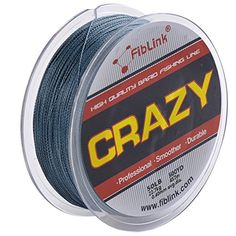 Fiblink 4 Strand Braid Braided Fishing Line Gray 300 yards 500yards 10lb80 lb Test PE Fish Line 10LB Diam008mm 300yards * You can find more details by visiting the image link.