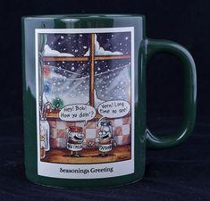Le Chat Noir Boutique: Far Side - SEASONINGS GREETING Christmas Coffee Mug, Misc. Coffee Mugs, CMFSSeasoningsGreeting