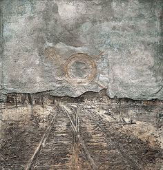 """istmos: """" Anselm Kiefer, """"Abendland/Twilight of the West"""", 1989 """" Anselm Kiefer, Abstract Landscape, Landscape Paintings, Abstract Art, Collage Art Mixed Media, Unusual Art, Contemporary Paintings, Abstract Expressionism, Oeuvre D'art"""