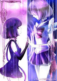 Hotaru Tomoe e Sailor Saturn ♄ Sailor Moons, Sailor Moon Manga, Sailor Pluto, Sailor Moon Crystal, Sailor Venus, Arte Sailor Moon, Sailor Moon Fan Art, Sailor Jupiter, Tomoe
