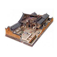 文史網 – 這位台灣人用剖視圖畫的中國古建築,美得讓人驚艷! 福建寧德樓下村民居