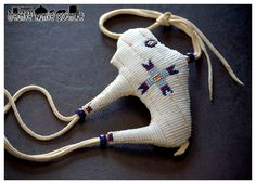Native American Beaded Buffalo Fetish by crystaltewa