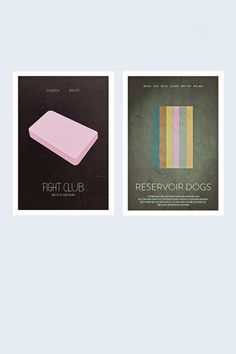 Fight Club x Resevior Dog 2 Pack Posters