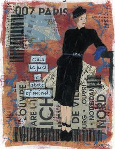 Chic Is Just a State of Mind - by Just Mary Designs Paris Street, Parisian, Original Art, Louvre, My Arts, Mary, Chic, Painting, Design