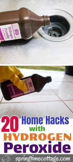 Here are some household cleaning tips and cleaning hacks you can use in your home with hydrogen peroxide. hacks tips and tricks How to clean your home with hydrogen peroxide Household Cleaning Tips, Deep Cleaning Tips, Cleaning Recipes, House Cleaning Tips, Natural Cleaning Products, Cleaning Solutions, Spring Cleaning, Cleaning Hacks, Cleaning Routines
