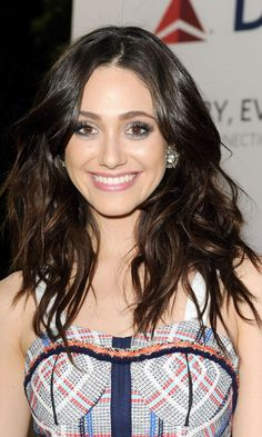 Emmy Rossum with tousled hair - Long Hairstyles: The Celebs Who Are Giving Us 'Long Hair, Don't Care' Inspo