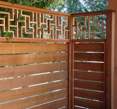 These modular lattice screens could easily fit into a Japanese garden theme. Choose a type of wood local to your region for an authentic touch (Japanese garden design is noted for using regionally-sourced materials). Modular screens from LatticeStix. Japanese Fence, Japanese Garden Design, Japanese House, Landscaping Around House, Pool Landscaping, Asian Landscape, Landscape Design, Lattice Screen, Lattice Fence